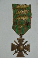 CROIX DE GUERRE 1914/1918-6 CITATIONS.FRENCH WAR CROSS 1914/1918.