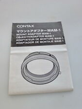 CONTAX MOUNT ADAPTER MAM-1 INSTRUCTION