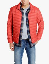 $298 HAWKE & CO Mens RED PUFFER DOWN PACKABLE HOODED WINTER COAT JACKET SIZE XXL