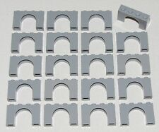 Lego Lot of 20 Light Bluish Gray Bricks Arch 1 x 4 x 2 Castle Arches Parts