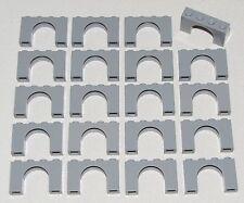 Lego Lot of 20 Light Bluish Gray Bricks Arch 1 x 4 x 2 Castle Arches Parts