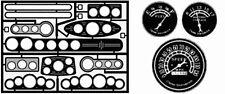 The Model Car Garage MCG-2043 Street Rod Gauge Panels with vintage gauge faces
