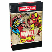MARVEL COMICS PLAYING CARDS HEROES WADDINGTONS GAME CARD COLLECTIBLES