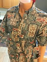 Bluewater Wear Hawaiian Shirt  Multi Color FLORAL /FISH  NEW WITH TAG LARGE