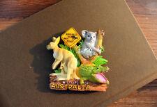 Wildlife of Australia, Kangaroo, Crocodile 3D Fridge Magnet Travel Souvenir Gift