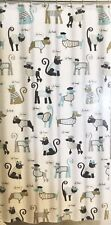 "Splash Dogs/Cats French Minou Pitou Peva Shower Curtain New 70x72"" Paris"