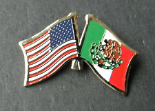 MEXICO INTERNATIONAL WORLD USA COMBO FLAG LAPEL PIN BADGE 1 INCH