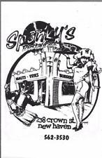 1980's Spanky'S Restaurant Menu, 238 Crown Street, New Haven, Connecticut
