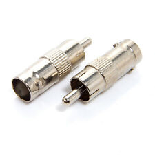 10 x CCTV BNC Female To Phono Male RCA Jack Convertor  VIDEO RCA SOCKET ADAPTER