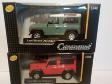 Double Set, Land Rover Defender X2, Metal Model.  Cararama  1/43 Scale Car