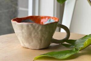 handmade ceramic mug - inside out