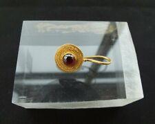 New ListingAncient Roman Gold Hoop Earring Garnet Cabochon