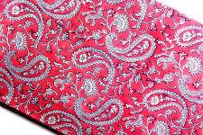 Cotton 10 Yards sanganeri hand block print paisley Running Vintage Pink Fabric