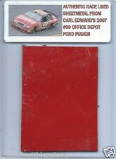 CARL EDWARDS 2007 OFFICE DEPOT FORD AUTHENTIC NASCAR RACE USED SHEETMETAL #2