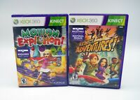 Lot of 2 XBox 360 Games Motion Explosion Kinect Adventures! with Manuals