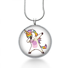 Dabbing Unicorn Necklace - Animal Pendant - Unicorn Jewelry gifts for teens