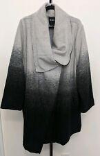 BB Dakota Women's Plus Black/Gray Oversize Jacket Coat Wool Draped Size 2X NEW
