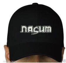 Nasum black cap hook and loop closure hat grindcore metal