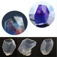 Silicone Crystal Gem Mould DIY Mold Resin Jewelry Pendant Making Craft Tools MA