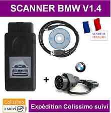 INTERFACE  DIAGNOSTIQUE BMW V1.4 OBD OBD2 LECTEUR DEFAUT - SCANNER VALISE K+DCAN