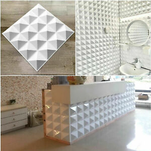 3D Wall Panels Ceiling Decor Wallpaper Tiles Cladding White Interior Wall Panels