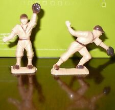 Vintage Ajax Plastic Baseball player figures: Pitcher &  Catcher