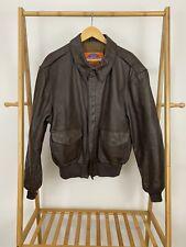 COOPER TYPE A-2 USAF Bomber Flight Jacket Coat Size 46R Goatskin Leather