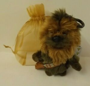 Star Wars - Chewbacca plush bag charm - new with tags - in brown gift bag