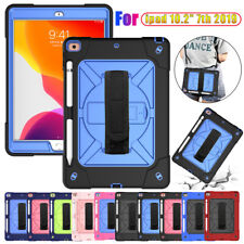 """For Apple iPad 10.2"""" 7th 2019 3in1 Heavy Rugged Hand & Shoulder Strap Case Cover"""
