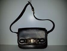 *RARE AUTHENTIC CELINE PARIS BROWN CALFSKIN CLASSIC VINTAGE BOX BAG SHOULDER BAG