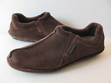 Rockport Kinetic Air Circulator Brown Suede Leather Slippers Sz 11.5  12