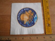 Apollo XIII VIntage cocktail napkin w/ logo NASA