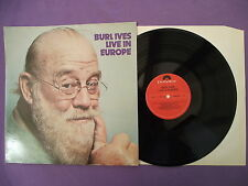 "Burl Ives Live In Europe. 12"" Vinyl Album (12A815)"