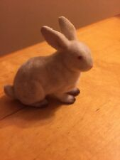 Vintage plastic Felt Cover 3.5 Inch Rabbit made in Hong Kong Gb8
