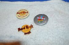 Lot of #3 Hard Rock Cafe Pins, 25 Years Anniversary, Miami, & No Drugs orNuclear