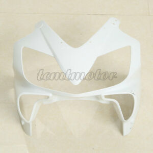 Unpainted White Front Upper Nose Cowl Fairing Fit For Honda CBR600 F4i 2001-2008