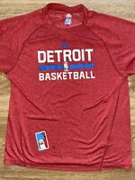 Will Bynum Detroit Pistons Game Worn Used Warmup Shirt Size L Adidas