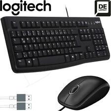 Logitech MK120 Tastatur mit Maus Set Business Kabelgebundenes Deutsches Layout