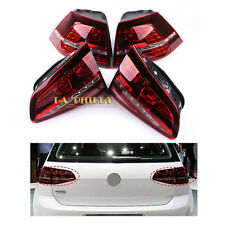 LED Taillights Tail Lamps Tail Light Dark Red For VW Golf GTI R MK7 MKVII