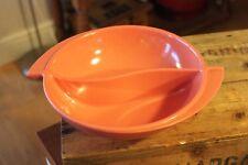 Vintage Melamine / Melmac Boonton Brand U.S.A Large Divided Serving Bowl – Pink!