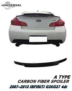 Carbon Fiber Trunk Spoiler For 2007-2013 INFINITI G25 G35 G37 Q40 Sedan Type A