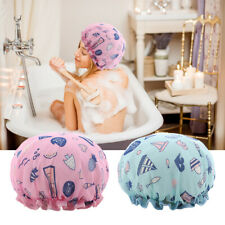 2 Pcs EVA Waterproof Bath Hat Cap Women Shower Cap Reusable Double Layer Hair