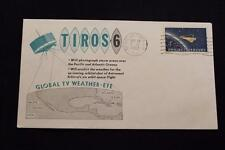 SPACE COVER 1962 MACHINE CANCEL TIROS-6 GLOBAL TV WEATHER EYE LAUNCH (2739)