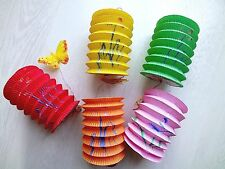 10 CHINESE MIX COLOR 10cm PAPER LANTERN BIRTHDAY WEDDING JAPANESE NEW YEAR PARTY