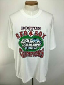 Boston Red Sox 2004 World Series Champs Double Sided T Shirt MLB Team Sport Tee