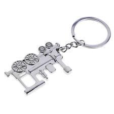 Locomotive Train Keychain Metal Key Chains Car Key Ring Holder Gift Creative