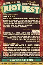 Riot Fest 2018 Chicago Concert Poster-Weezer,Beck,Run The Jewels,Incubus,Blondie