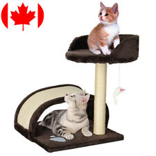 "17"" Cat Tree Condo Furniture Scratching Post Pet Cat Kitten House W/ Hanging Toy"