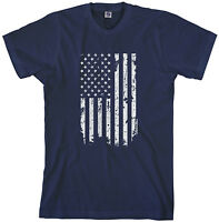 Threadrock Mens White American Flag T-shirt United States American Pride USA