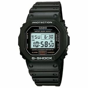 Casio DW5600E-1V, G-Shock 200 Meter Watch, Chronograph, Illuminator, Alarm